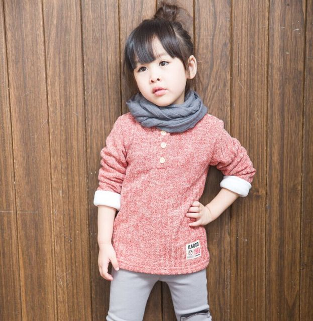 a2c4d1aff Children Spring Winter Lovely Kids Sweaters Thicken Clothes Long ...