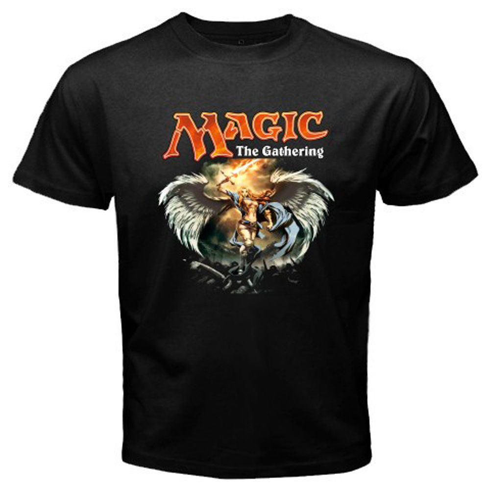 New MTG Magic The Gathering Video Games Men's Black T-Shirt Size S to 3XL Hot New 2018 Summer Fashion T Shirt