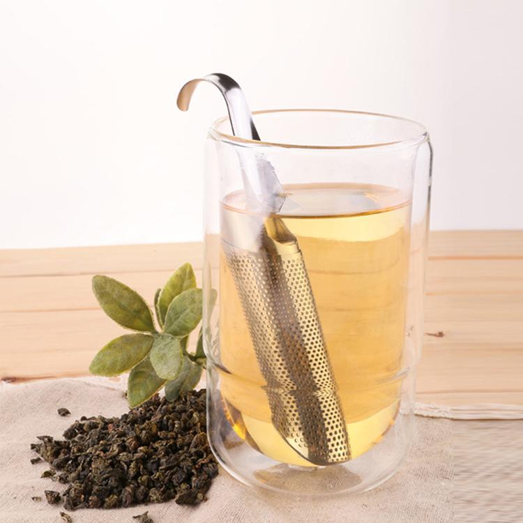 Stainless steel Tea Infuser  Filter Creative Tea Strainer Pipe Design Coffee Tea tools Tea Accessories Infuser Filter For Tea