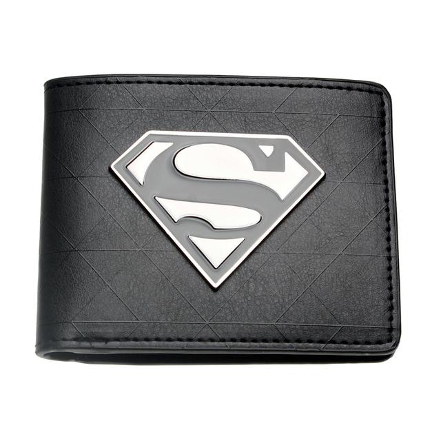 Superman Black Metal Badge Wallet