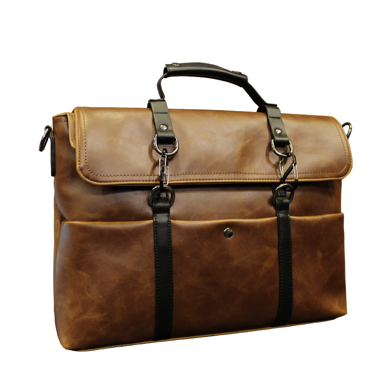 0b4dfdc76830 GUMST Brand Men Laptop Bag Briefcase Fashion Mens Business Bags Casual  Crazy Horse PU Leather Messenger for