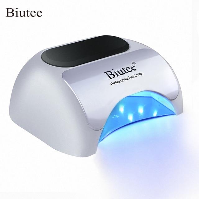 Biutee 48 W 24 W נייל מייבש נייל מנורת LED ג 'ל פולני אשפרה מנורה עם תחתון 30 s/ 60 s טיימר LCD תצוגת לציפורניים מייבש