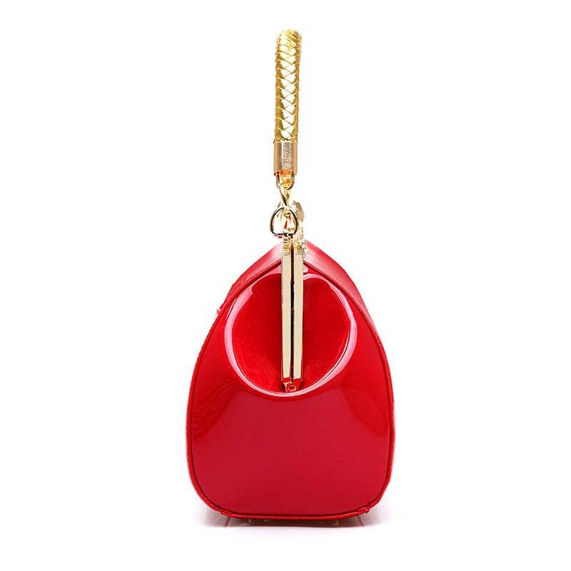 Mode Frauen Schulter Tasche Hohe Qualität Weiblichen Beutel Große Kapazität Patent Leder Frauen Handtaschen Designer Diamanten Damen Taschen