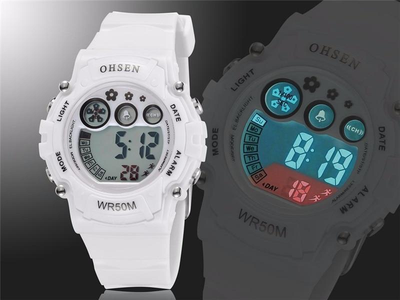 New 2019 OHSEN Digital Quartz Kids Boys Fashion Sports Wristwatch Rubber Band 50M Waterproof Sport Cartoon Cute Children Watches (14)