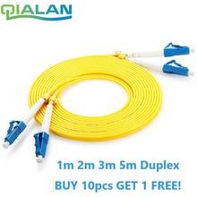 LC UPC Patchcord Cable de parche de fibra óptica dúplex de PVC de 2,0mm óptico Jumper modo único FTTH de parche Cable de fibra LC conector