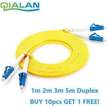 LC UPC Patchcord Fiber Optic Patch Cord  Duplex 2.0mm PVC Optical Jumper Single Mode FTTH Fiber Patch Cable LC Connector
