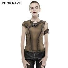 Новинка, футболка в стиле панк-рок, Стим-панк, летняя, хлопковая, брендовая, качественная, визуальная, kei, модная, кибер-блуза, винтажный стиль harajuku, T433