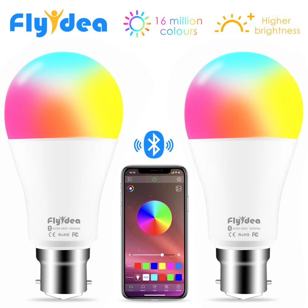 New Wireless Bluetooth Smart Bulb B22 Color Change Light Bulb LED Smart Home Lighting 10W RGB Magic Lamp Compatible IOS /Android