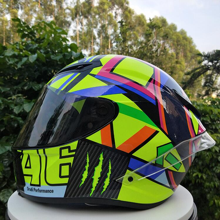New Motorcycle Helmet Male Full Helmet Professional Helmet Competition Suitable For Four Seasons Use Safety Performance 2 Orders Are Welcome.