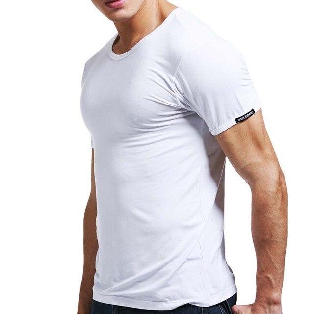 aca56376aea2f1 Mens Clothes Men Slim Casual Round Collar Pure Color Men's Short Sleeve T- shirt Men