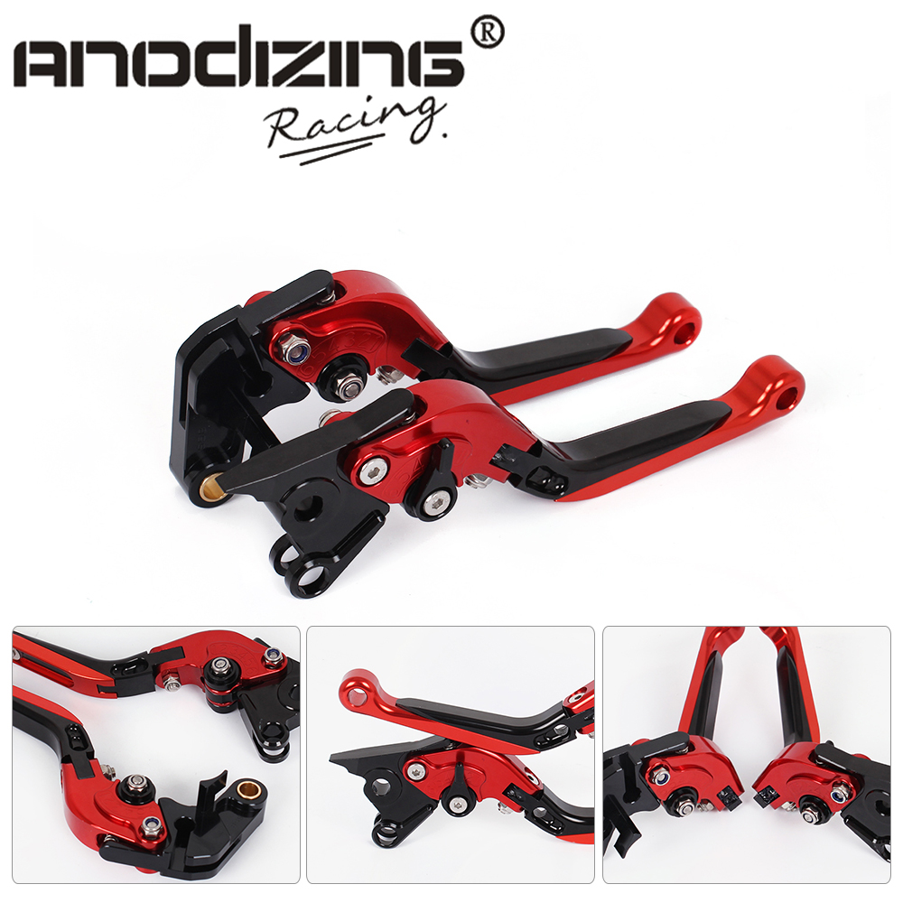 DB-80 V-4A Adjustable CNC 3D Extendable Folding Brake Clutch Levers For Aprilia TUONO V4R/Factory  2011-2016 motorcycle new cnc billet short folding brake clutch levers for bimota db 5 s r 1100 2006 11 07 09 10 db 7 1100 db 8 1200 08 11