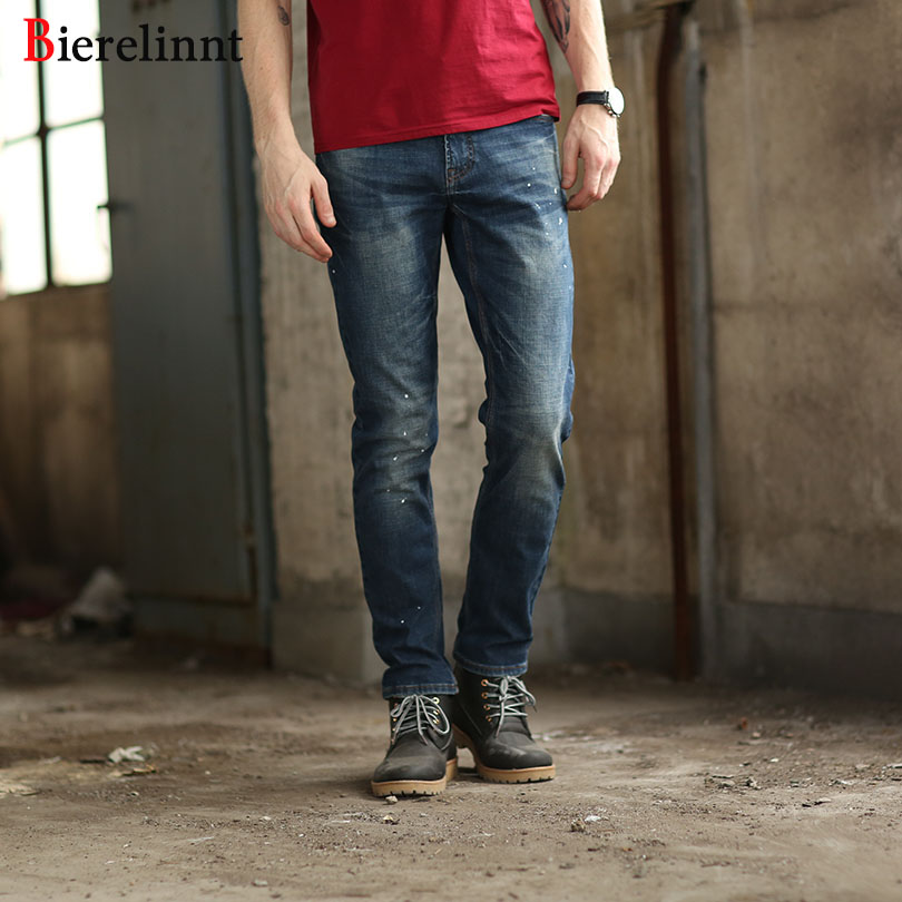 2018 New Arrival Hot Sale European & America Style Straight Elastic Warm Jeans Men,Autumn & Winter Cotton Denim Men Jeans,158031