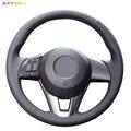 Чехол рулевого колеса автомобиля из искусственной кожи для Mazda  черный чехол рулевого колеса автомобиля для Mazda  CX5  Atenza 2014  Mazda 3  CX-5 2016  Scion iA 2016