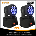 ( 2 PCS ) RGBWA luz UV LED Moving Head Wash efeito de luz 7 * 18 W DMX 11 / 18 canais LED DJ Stage luz