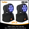 (2PCS) RGBWA UV Light LED Moving Head Wash Effect Light 7*18W DMX 11/18Channels LED Stage DJ Light