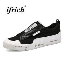 6bae12b73b1d72 Frühling Herbst Männer Faul Schuhe Schwarz Weiß Leinwand Müßiggänger Für Männlichen  Anti-Slip Klassische Chaussure