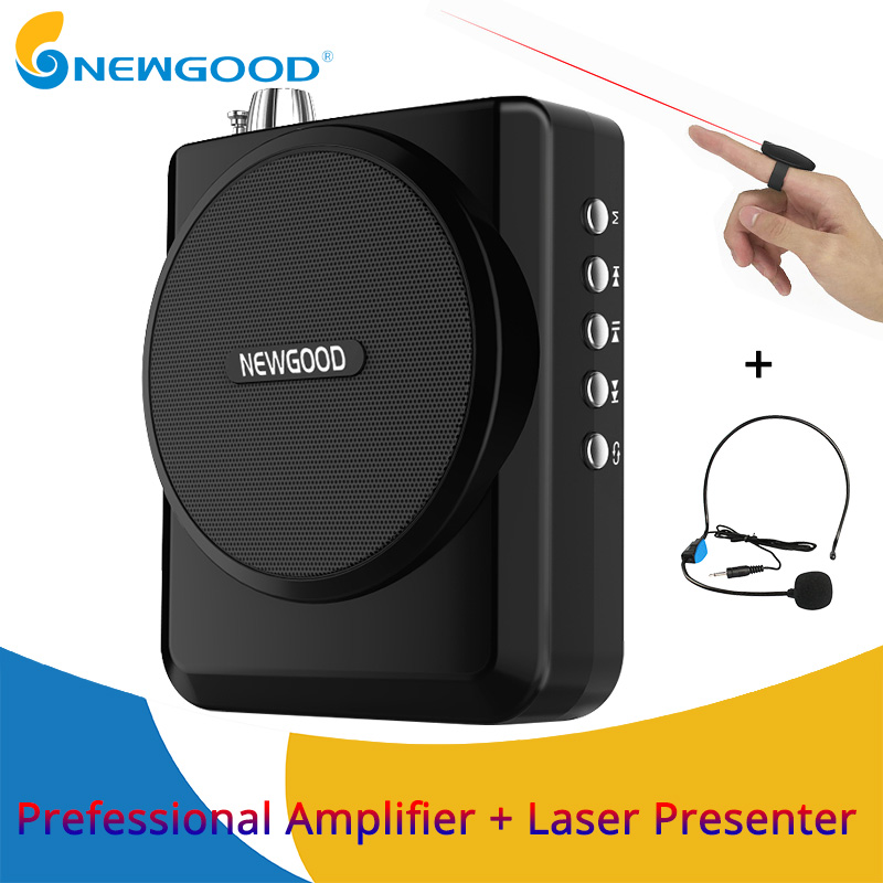 NEWGOOD Voice Amplifier Speaker Portable Megaphone Wireless Voice Amplifiers for Teachers Loudspeaker with USB TF card rolton k300 megaphone portable voice amplifier waist band clip support fm radio tf mp3 speaker power bank tour guides teachers