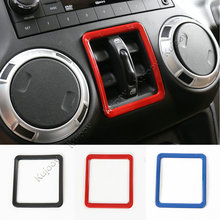 ABS Interior Car Window Lift Switch Button Frame Cover Decoration Trim for Jeep Wrangler 2011-2016 Car Styling Accessories