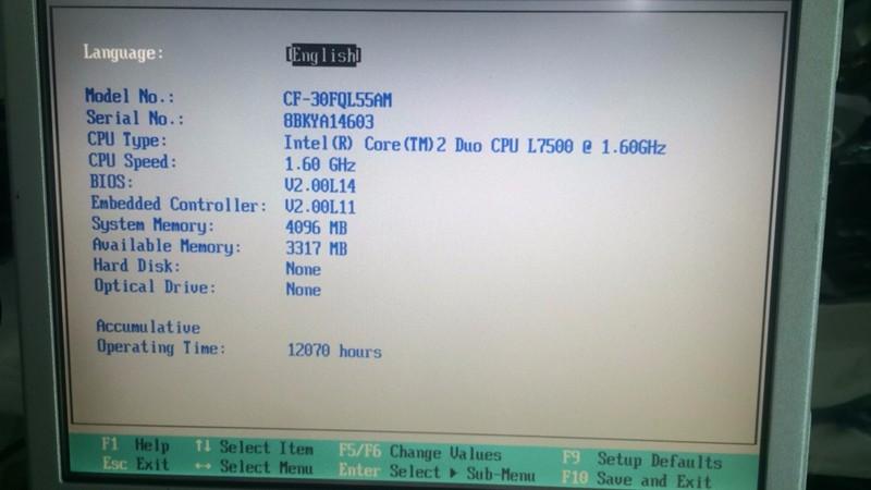 CF30 Toughbook spec