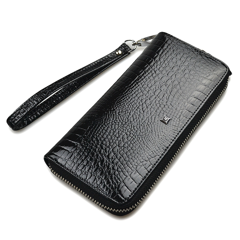 HH Genuine Leather Women Wallets Luxury Brand High Quality Fashion Girls Purse Card Holder 2018 New Design Long Wristlet Clutch купить в Москве 2019