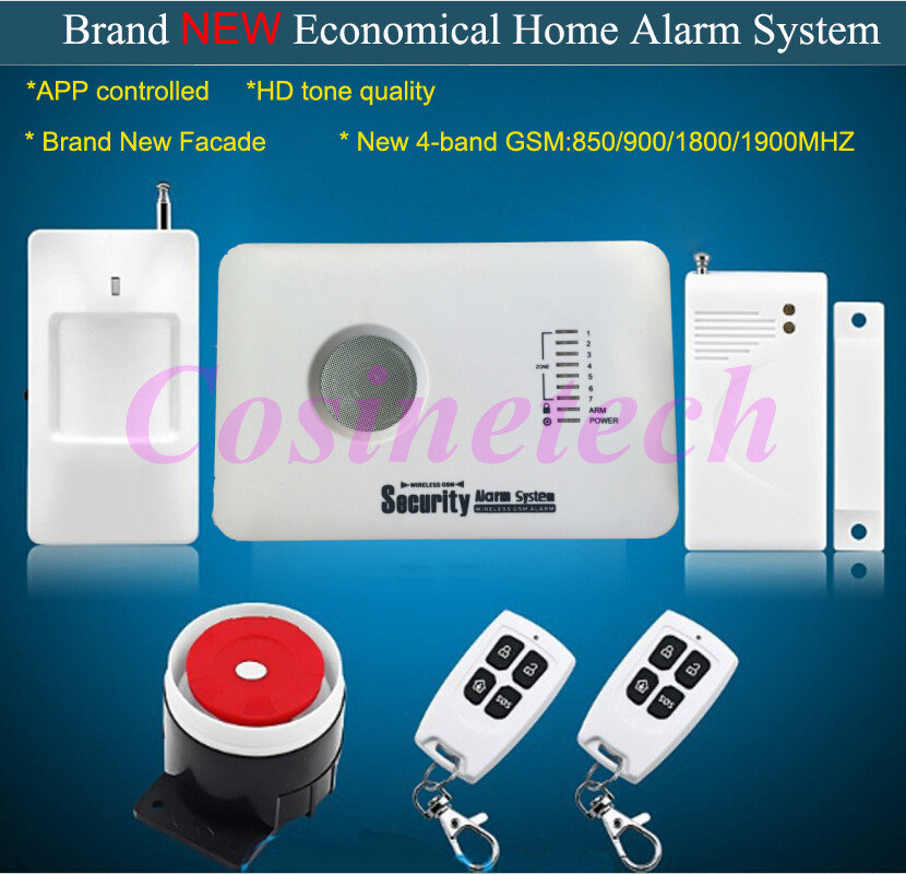 Cheap Home security GSM alarm system with APP control,7 defense zones,3 wired and 70 wireless defense zones Burglar Alarm System free shipping 16 zones wired and wireless alarm control pane home security alarm host wireless and wired 850 900 1800 1900mhz