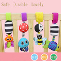 HOT! Baby Rattles hanging Bee with sound Cute Animals Infant Baby Crib Stroller Toy 0-12 months Plush Newborn Bed Soft Play Doll