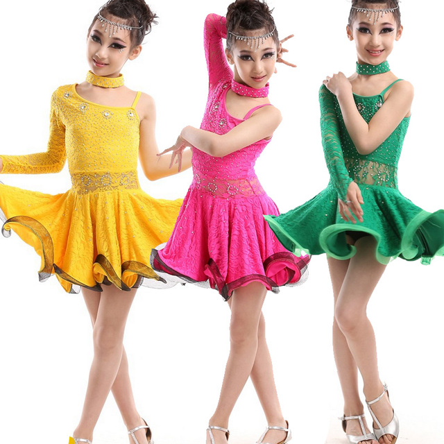 Kids Ballroom Competition dancing dress Latin Dance Dress for Girls Dancewear Costumes Kids Waltz Flamenco dance  sc 1 st  AliExpress.com & Kids Ballroom Competition dancing dress Latin Dance Dress for Girls ...