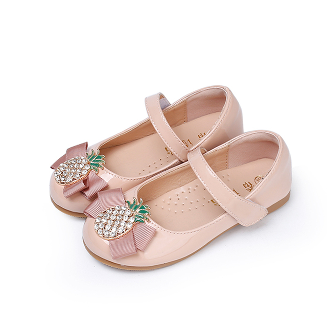 Cute little girl shoes 2018 autumn new fashion black pineapple child baby  princess shoes student dance shoes leather girls shoes 2cb5c576b537
