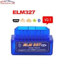 Мини V 2,1 ELM327 OBD2 Bluetooth адаптер ELM 327 V2.1 V1.5 OBD2 OBDII сканер диагностический инструмент сканер автомобильный код считыватель OBDII ELM327