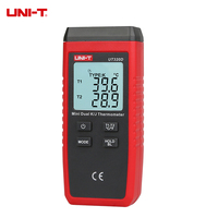 New UNI T UT320D Mini Contact Thermometer Dual channel K/J Thermocouple Temperature Meter With LCD Backlight