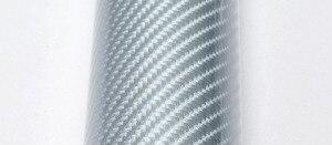 Image 3 - Car Styling wysoki połysk 5D srebrna folia winylowa z włókna węglowego z włókna węglowego arkusz folii samochodowej folia zwiajana narzędzie samochód naklejka naklejka