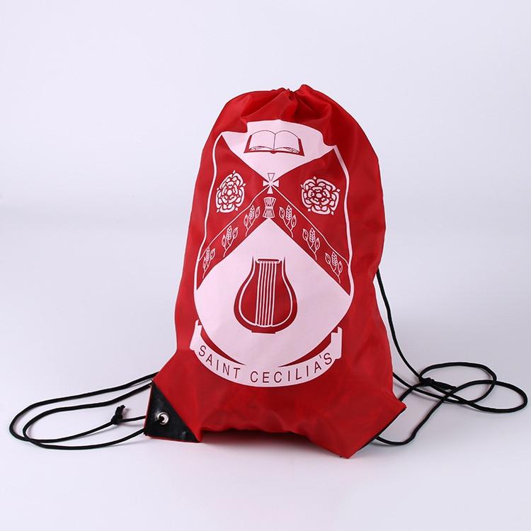 Custom Cheap Polyester String Shopping Bag/Wholesale Drawstring Backpack/Promotional Drawstring Shopping Bag