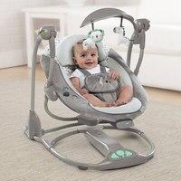 Новорожденных подарок многофункциональный музыка Электрический стул качели для младенцев детское кресло качалка комфорт детские качели с