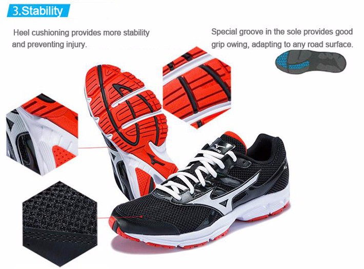 MIZUNO Men SPARK Mesh Breathable Light Weight Cushioning Jogging Running Shoes Sneakers Sport Shoes K1GR160370 XYP303 5