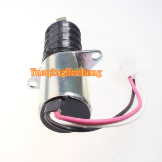 New Fuel Shut Off Solenoid Valve 119629-66801 For 3TNE88 12 Volt fuel shutdown solenoid valve shut off stop f1hz 9n392 a for cummins vw ford 12v
