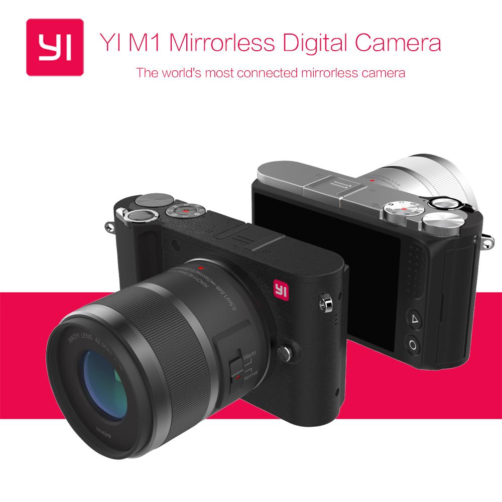 Prix pour Expédition libre de SME International Version D'origine YI M1 Mirrorless Numérique Caméra Avec YI 12-40mm F3.5-5.6 Lentille/42.5mm F1.8 Lentille