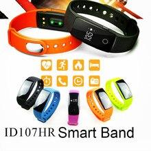 ID107 Heart Rate Monitor Bluetooth 4.0 Smart Watch Activity Tracker Smart Band Wristband Fitness Bracelet for Huawei Xiaomi #B0