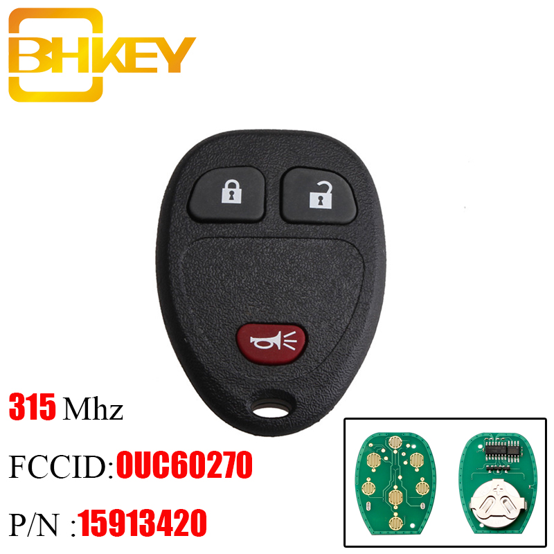 2 Car Fob Remote Shell Case Pad 6B For 2007 2008 2009 2010 GMC Yukon 1500 2500