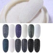 Glitter-Powder Pigment-Gel Nail-Polish Black Sequins Nail-Art-Decoration Dust Shiny White