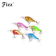 Купить с кэшбэком 5pcs/set 3 Fishes in 1 Artificial School Fish Crank Bait Hard Plastic Swimbait Fishing Wobbler Minnow Crankbait Fishing Tackle
