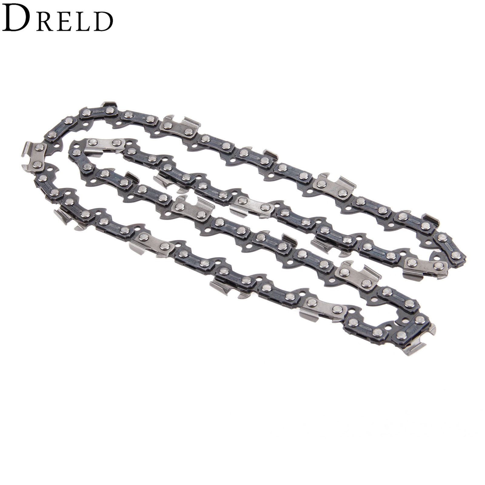 DRELD 10 Metal Chainsaw 40 DL Drive Links 3/8'' Chain Saw Blade Sharp Blade Pitch Replacement Chainsaw Parts for Wood Cutting 2 pcs gear sprockets drive replacement chainsaw chain drive sprocket 221514 8 for makita 5016b 5012b electric chain saw