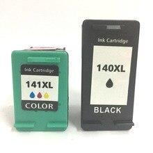 цена на 2pcs Ink Cartridge for HP 140 141 DeskJet 5363 D4263 OfficeJet 6413 J5783 J5783 J6413 C4283 C4343 C5283 D5363 Printer 140XL