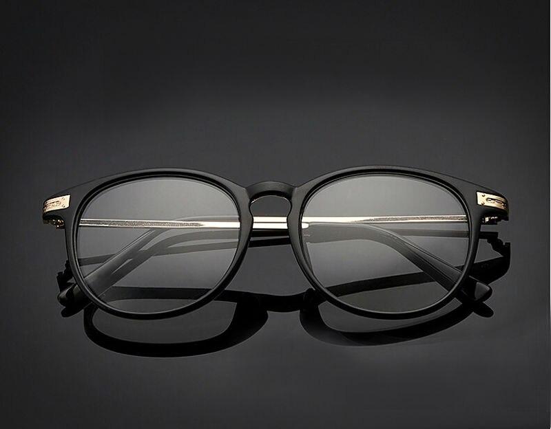 ᗔRetro gafas marco hombre mujer lente transparente negro Floral ...