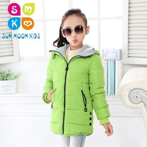 Children Jacket Girl Jackets For Girls Winter Coat 2017 Fashion Kids Clothes Child Hooded Outerwear Thicken Cotton-padded Jacket long section men s solid cotton padded wadded jacket fashion clothes trench coat hooded jackets casual outerwear slim parka 3xl