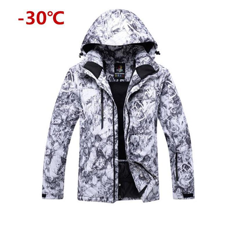 Mounchain hommes imperméable coupe-vent chaud Ski Snowsuit mode Sports de plein air veste de Ski
