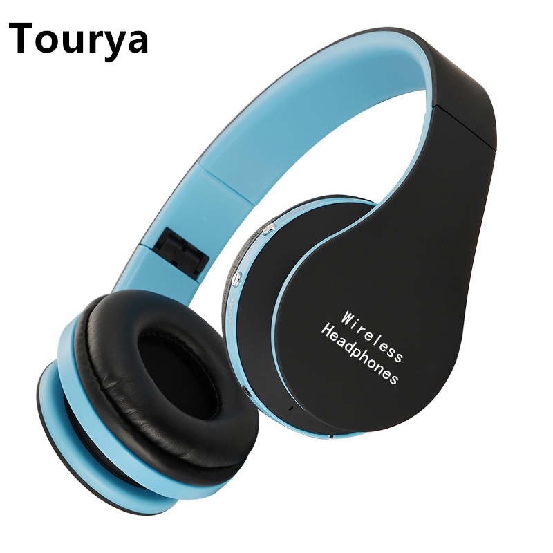 Stereo Handsfree Headfone Casque Audio Headphones Bluetooth Headset Earphone Wireless Headphone for Computer PC Aux Head Phone