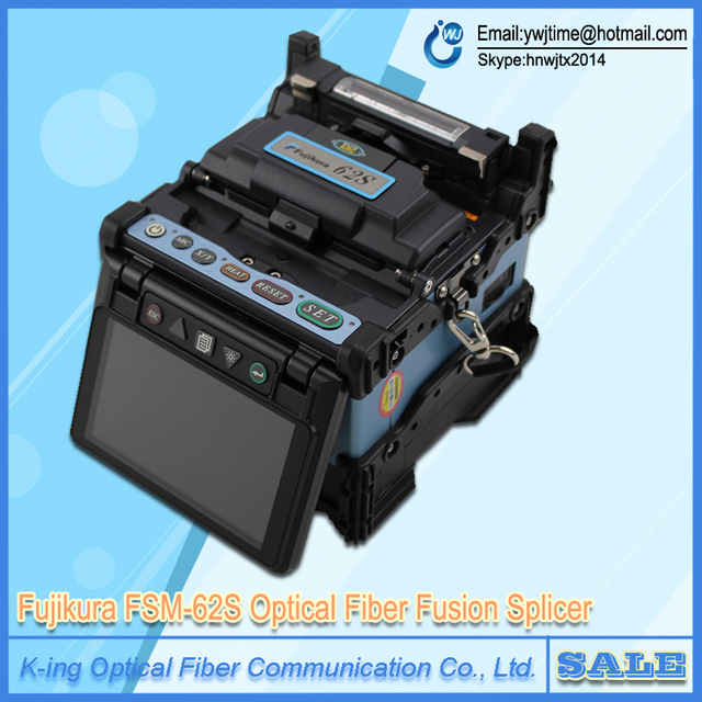 DHL Envío Gratis Fujikura FSM-62S FSM-62C FSM62C fibra óptica fusionadora de Fibra máquina de soldadura