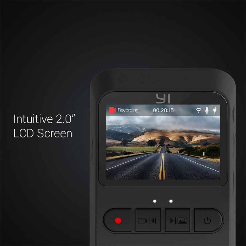 YI мини-камера 1080P 140 широкоугольная HD Запись видео 2,0 ''ЖК-экран wifi Встроенная большая апертура международная версия