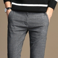 HCXY 2017 Spring Classic New High Quality Men S Elastic Casual Pants Mens Business Dress Slim