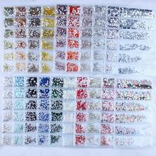 1 Bag Nail Rhinestones 5/20 Colors Silver/Gold/Black Caviar Art Designs For Accessories#Z